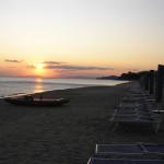 Tramonto sulla spiaggia di Castiglione della Pescaia. Author and Copyright Marco Ramerini
