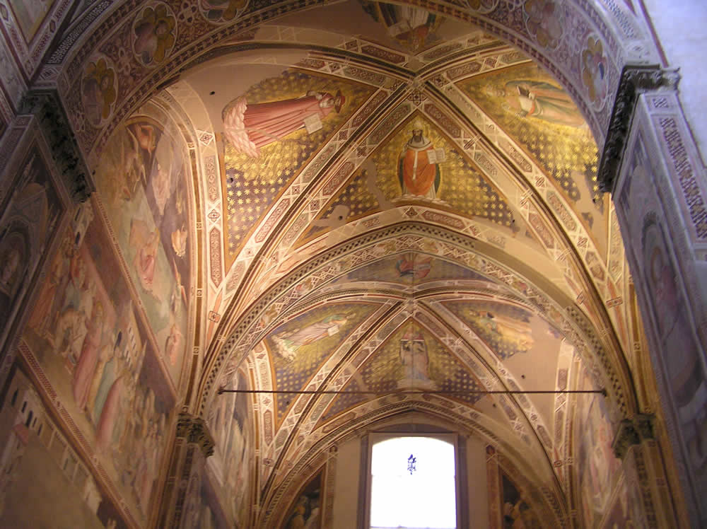 Affreschi, Basilica di Santa Croce, Firenze. Author and Copyright Marco Ramerini