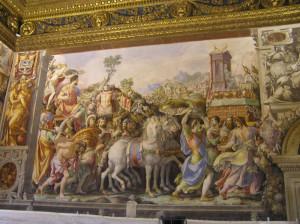 Affreschi, Sala dell'Udienza, Palazzo Vecchio, Firenze. Author and Copyright Marco Ramerini