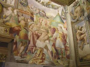 Affreschi, Sala dell'Udienza, Palazzo Vecchio, Firenze. Author and Copyright Marco Ramerini.