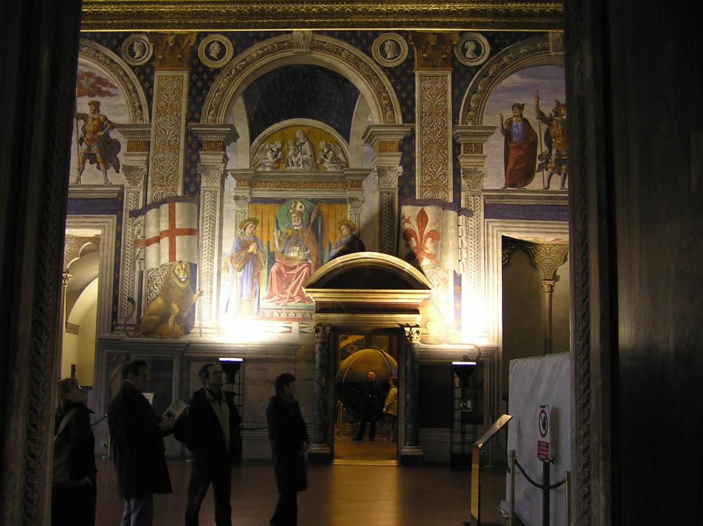 Affreschi di Domenico Ghirlandaio, Sala dei Gigli, Palazzo Vecchio, Firenze. Author and Copyright Marco Ramerini.