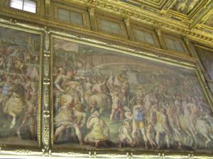 Affresco del Salone dei Cinquecento, Palazzo Vecchio, Firenze, Italia. Author and Copyright Marco Ramerini