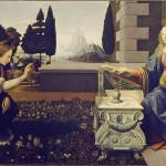 Anunciación, Leonardo da Vinci, Galería de los Uffizi, Florencia