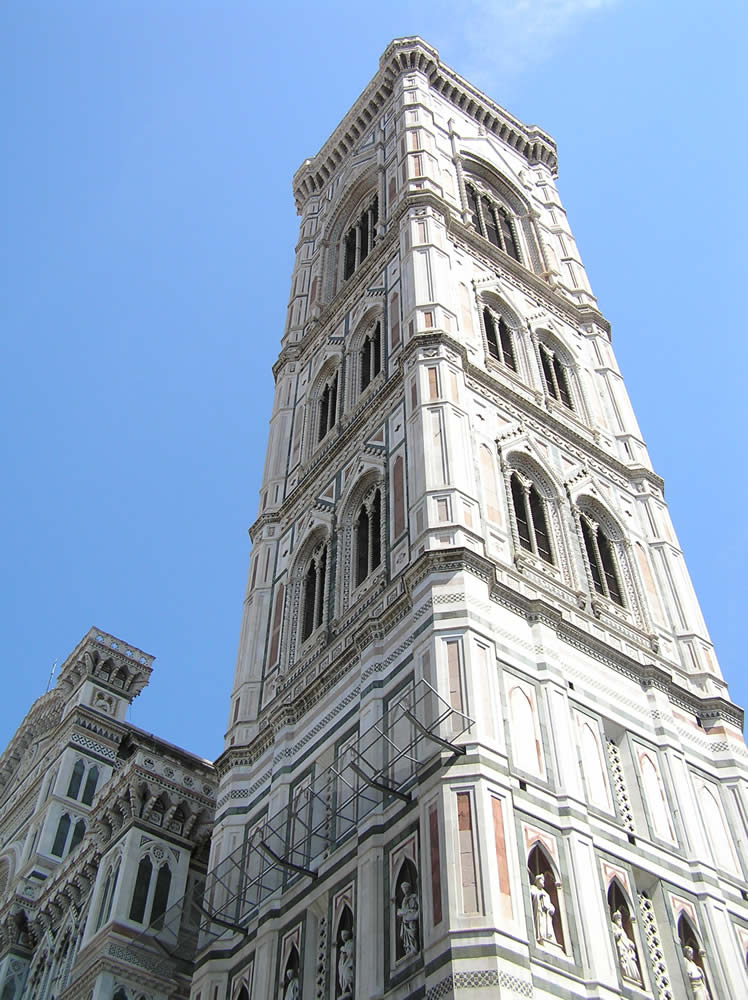 Campanile di Giotto, Firenze, Italia. Author and Copyright Marco Ramerini