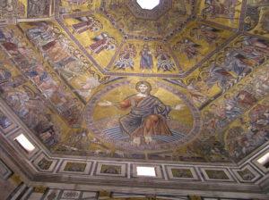 Mosaici della Cupola del Battistero di San Giovanni, Firenze, Italia. Author and Copyright Marco Ramerini,