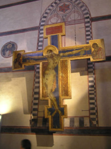 Crocifisso dipinto da Cimabue, Basilica di Santa Croce, Firenze. Author and Copyright Marco Ramerini.