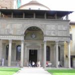 Fachada, Cappella de'Pazzi, Basílica de Santa Croce. Autor y Copyright Marco Ramerini