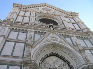 Facciata della Basilica di Santa Croce, Firenze. Author and Copyright Marco Ramerini.