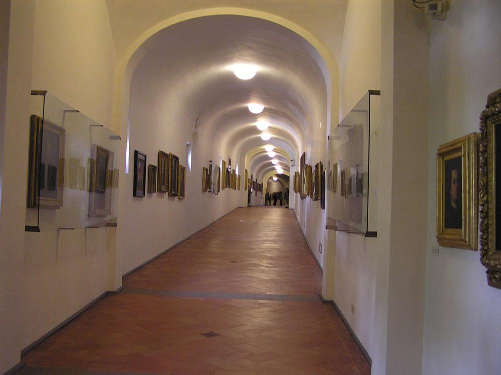 Il Corridoio Vasariano, Firenze, Italia. Author and Copyright Marco Ramerini