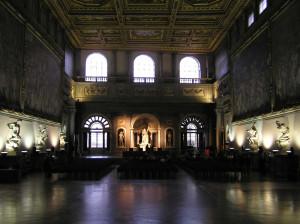 Il Salone dei Cinquecento, Palazzo Vecchio, Firenze, Italia. Author and Copyright Marco Ramerini