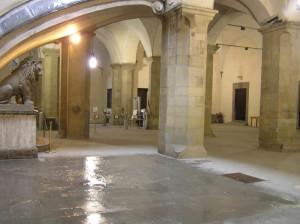 Il cortile con pilastri, Palazzo Vecchio, Firenze, Italia. Author and Copyright Marco Ramerini