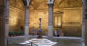 Il cortile di Palazzo Vecchio, Firenze, Italia. Author and Copyright Marco Ramerini