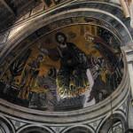 Il mosaico in stile tardo bizantino (1297) dell'abside. Basilica di San Miniato al Monte, Firenze. Author and Copyright Marco Ramerini