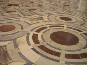 Il pavimento in marmo del Duomo, Firenze, Italia. Author and Copyright Marco Ramerini