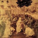 La Adoración de los Magos, Leonardo da Vinci, Galería Uffizi, Florencia