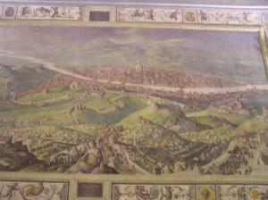 L'Assedio di Firenze, Sala di Clemente VII, Palazzo Vecchio, Firenze. Italia. Author and Copyright Marco Ramerini