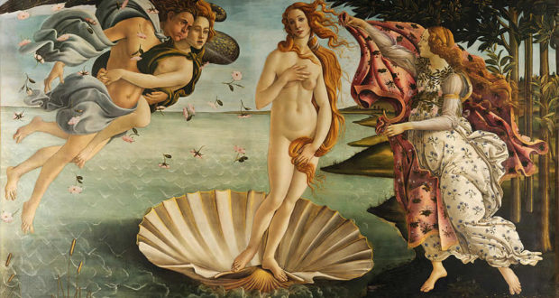 La Naissance de Vénus, Sandro Botticelli, Galerie des Offices, Florence