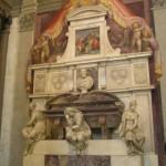 La Tumba de Miguel Ángel, Basílica de Santa Croce, Florencia. Autor y Copyright Marco Ramerini.