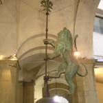 La banderuola del Marzocco, Palazzo Vecchio, Firenze, Italia. Author and Copyright Marco Ramerini