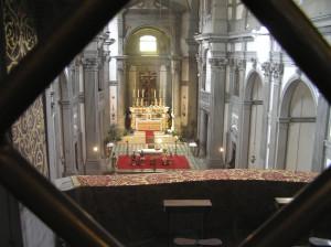 La chiesa di Santa Felicita vista dal Corridoio Vasariano, Firenze, Italia. Author and Copyright Marco Ramerini