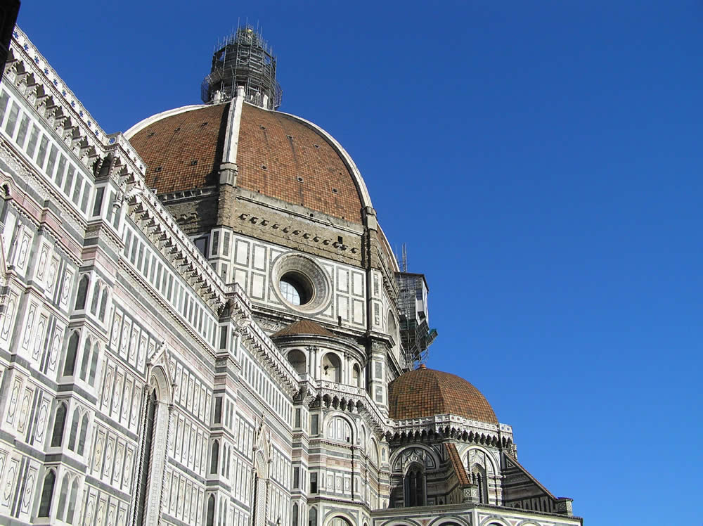 Brunelleschi's dome. The dome of the Cathedral, Florence, Italy. Author and Copyright Marco Ramerini.