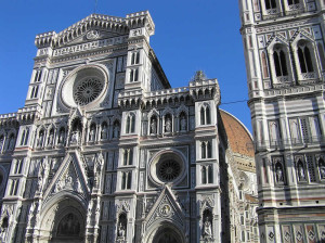 La facciata del Duomo, Firenze, Italia. Author and Copyright Marco Ramerini