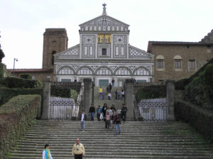 La facciata della Basilica di San Miniato al Monte, Firenze. Author and Copyright Marco Ramerini