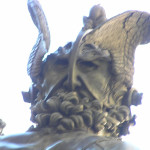 L'autoportrait de Cellini, Persée de Benvenuto Cellini. Loggia della Signoria ou Loggia dei Lanzi, la Piazza della Signoria, Florence, Italie. Author and Copyright Marco Ramerini,,