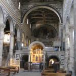L'interno della Basilica di San Miniato al Monte, Firenze. Author and Copyright Marco Ramerini