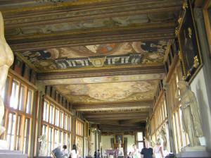 L'interno della Galleria degli Uffizi, Firenze. Author and Copyright Marco Ramerini