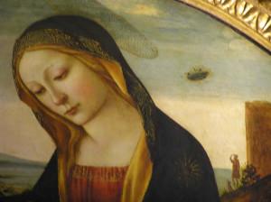 Madonna col Bambino e San Giovannino, Sala di Ercole, Quartiere degli Elementi, Palazzo Vecchio, Firenze. Author and Copyright Marco Ramerini