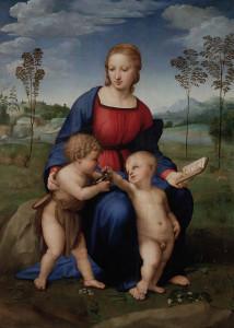 Madonna con il cardellino, Raffaello, Galleria degli Uffizi, Firenze