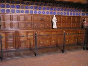 Mobilio del XV secolo nella Sacrestia della Basilica di San Miniato al Monte, Firenze. Author and Copyright Marco Ramerini