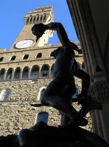 Persée de Benvenuto Cellini. Loggia della Signoria ou Loggia dei Lanzi, Piazza della Signoria, Florence. Author and Copyright Marco Ramerini,