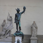 Perseo de Benvenuto Cellini. Logia de la Señoría o de Lanzi, Plaza de la Señoría, Florencia. Autor y Copyright Marco Ramerini,,