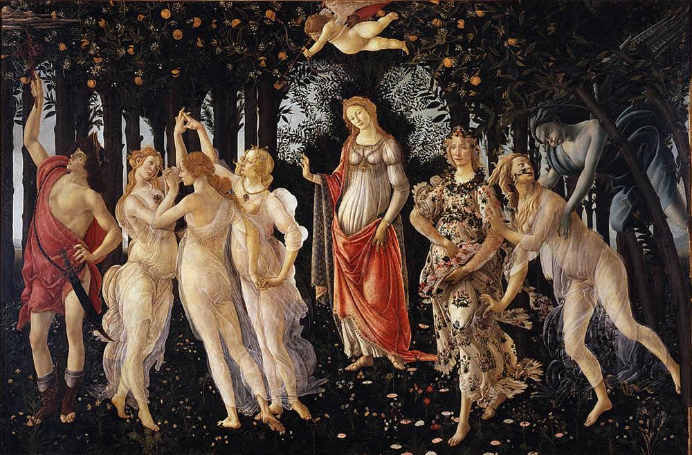 Primavera, Sandro Botticelli, Galerie des Offices, Florence
