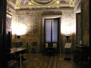 Sala di Clemente VII, Palazzo Vecchio, Firenze. Italia. Author and Copyright Marco Ramerini
