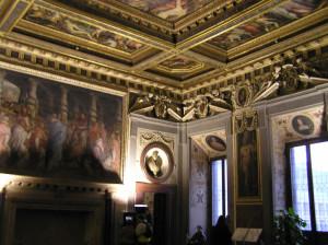 Sala di Leone X, Palazzo Vecchio, Firenze. Italia. Author and Copyright Marco Ramerini