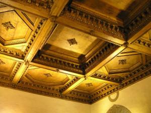 Soffitto, Sala delle Carte Geografiche, Palazzo Vecchio, Firenze. Author and Copyright Marco Ramerini