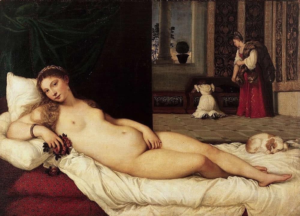 Venus d'Urbino de Titien, Galerie des Offices, Florence
