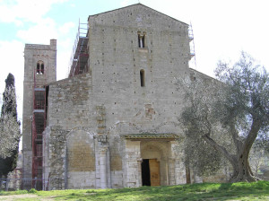 Abbazia di Sant'Antimo, Montalcino, Siena. Author and Copyright Marco Ramerini