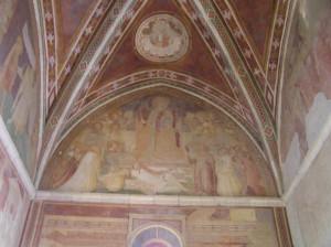 Affreschi, Chiesetta di Montesiepi, San Galgano, Chiusdino, Siena. Author and Copyright Marco Ramerini.