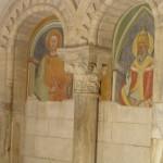 Affreschi di Spinello Aretino che rappresentano S. Papa e S. Sebastiano. Abbazia di Sant'Antimo, Montalcino, Siena. Author and Copyright Marco Ramerini