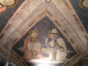 Affresco, Sagrestia Vecchia, Santa Maria della Scala, Siena. Author and Copyright Marco Ramerini