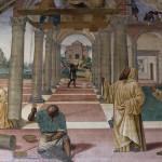 Affresco del Sodoma, Abbazia di Monte Oliveto Maggiore, Asciano, Siena. No Copyright