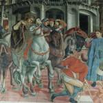Affresco di Domenico di Bartolo, Sala del Pellegrinaio, Santa Maria della Scala, Siena. No Copyright