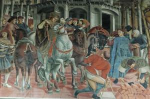Fresque de Domenico di Bartolo, Sala del Pellegrinaio, Santa Maria della Scala, Sienne. No Copyright