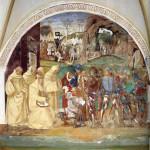 Affresco di Luca Signorelli, Abbazia di Monte Oliveto Maggiore, Asciano, Siena. No Copyright