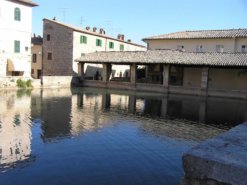 Bagno Vignoni, San Quirico d'Orcia, Siena. Author and Copyright Marco Ramerini