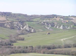 Campagna attorno a Monticchiello, Val d'Orcia, Siena. Author and Copyright Marco Ramerini
